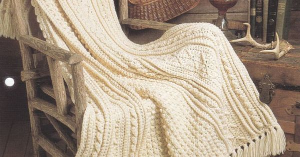 Aran Afghan Crochet Pattern - Fishermans Blanket Dooley likes crafts ...