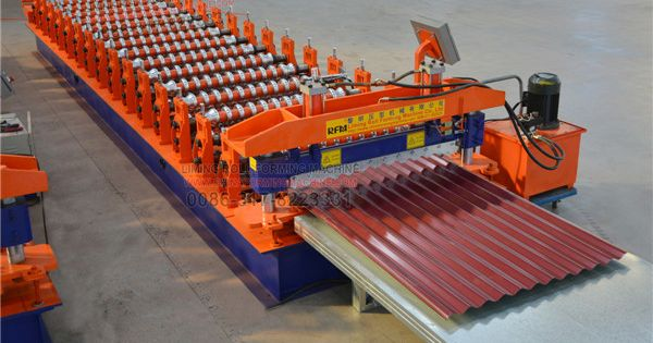 Today Let Us Learn More About Lm Automatic Corrugated Tile Sheet Roll Forming Machine Our Corrugated Tile Sh Corrugated Roofing Roofing Roofing Sheets