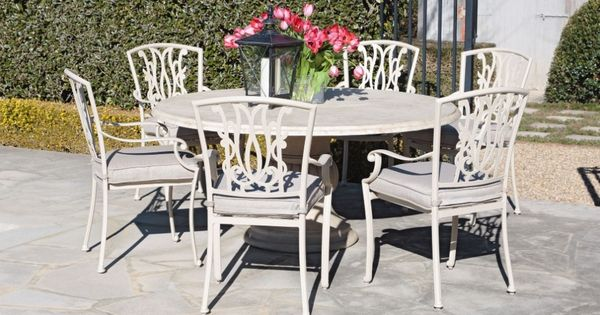 Beaumont 7 Piece Round Dining Setting Outdoor Dining Outdoor Living Furniture Outdoor