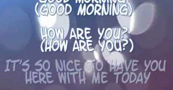 Karaoke Good Morning Song For Children With Lyrics Playlist