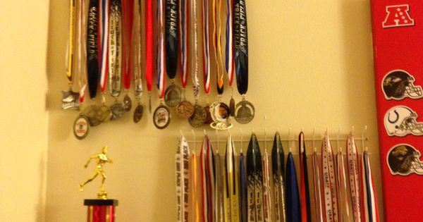 Easy And Cheap Way To Display Medals Elfa Hook Tie Amp Belt