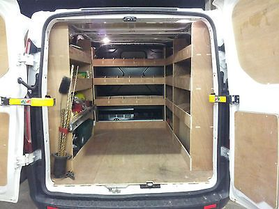 Ford Transit Custom Van Racking Swb Complete 12mm Plywood Shelving Storage Van Shelving Van Racking Van Storage