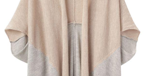Alpaca Bi-Color Open Cardigan by Tsumori Chisato.