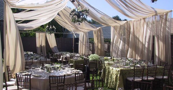 garden wedding ideas. simple and elegant