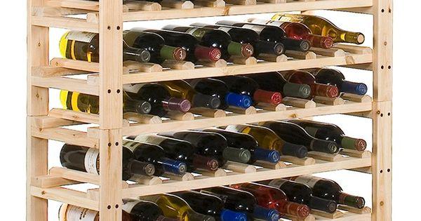 Cava de madera de palets cavas pinterest bricolaje bancos de almacenamiento y estantes de - Estantes para vinos ...