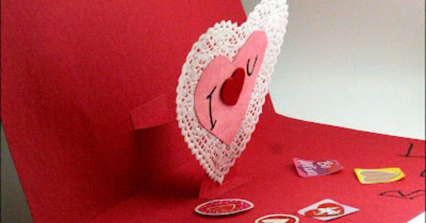 Mama S Little Muse Easy Pop Up Valentine S Day Card Kid S Craft Valentine Crafts For Kids Valentine S Day Crafts For Kids Pop Up Valentine Cards