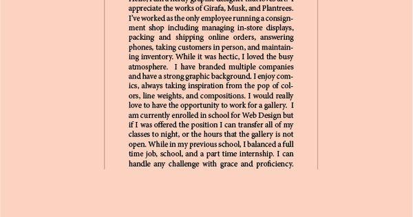 Graphic Design: Cover Letter & Résumé