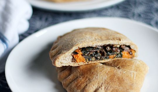 Freezer Lunch Recipe: Spiced Lentil, Sweet Potato & Kale Whole Wheat Pockets
