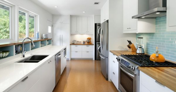 Before And After Modern Galley Kitchen Kitchens Pinterest Galley Kitchen Design Long