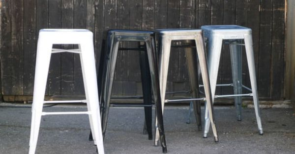 original tolix barhocker neu zink glanz lackiert ebay. Black Bedroom Furniture Sets. Home Design Ideas