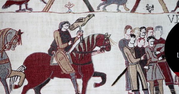 bayeux tapestry of d day cartoon