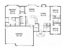House Plans From 1500 To 1600 Square Feet Page 1 New House Plans House Plans One Story Barndominium Floor Plans