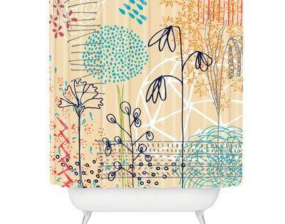 East Urban Home Kerrie Satava Spring Raindrops Single Shower