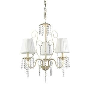Elle 3 Light White Indoor Crystal Chandelier With Shade Rl8092 In 2020 Chandelier Shades Chandelier Ceiling Lights