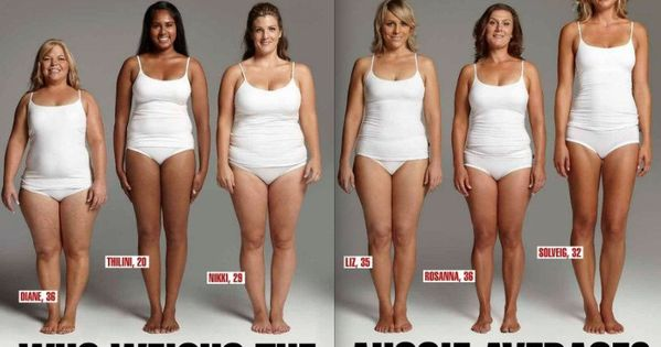 All these women weigh 154 pounds. We all carry weight differently. Just
