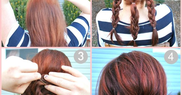 Cute braided bun updo tutorial. may make for great dance hair styles