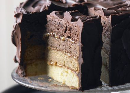 Chocolate caramel layer cake recipe ~ For the ultimate indulgence look no