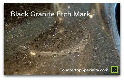Stains On Black Galaxy Granite Black Granite Countertops Granite Granite Cleaner