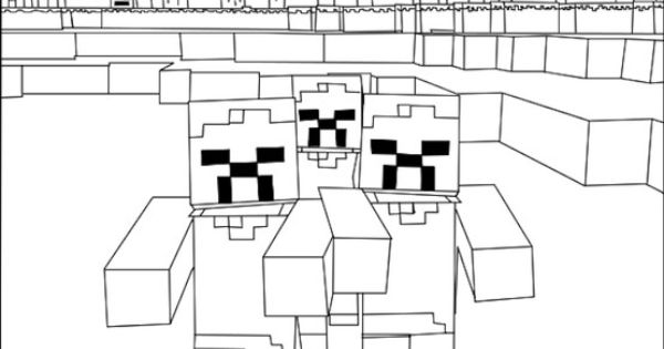 Minecraft Zombie Coloring Page Coloring Pages