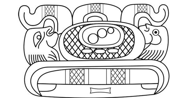 coloring page mayan art