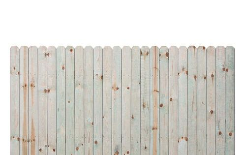 4 H X 8 W Dog Eared Ac2 Treated Fence Panel At Menards