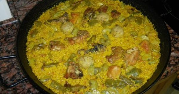 Paella Is Of Course One Of The Characteristic Dishes Of Spain