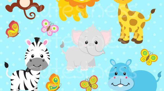 Jungle Animal Clipart Baby Animals Clipart Safari By Cutesiness Free Clip Art