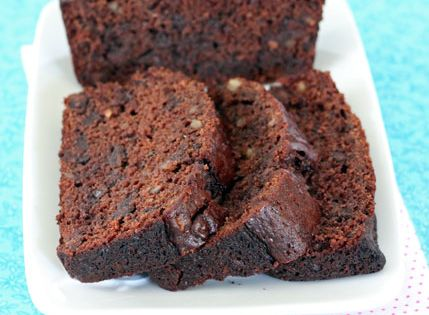 Double Chocolate Zucchini Bread -- subbed whole wheat flour it worked well.