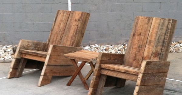 Two Chairs And One Table For 320 Made With Old Barn Wood