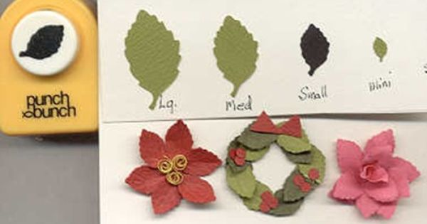 small birch leaf shape paper punch by punch bunch quilling