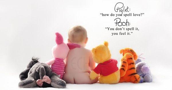Baby photo idea - Winnie the Pooh