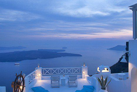 Somewhere in Santorini, Greece:) Beautiful. Imagine swimming in that pool with this