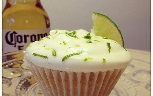 Corona cup cakes for cinco de mayo