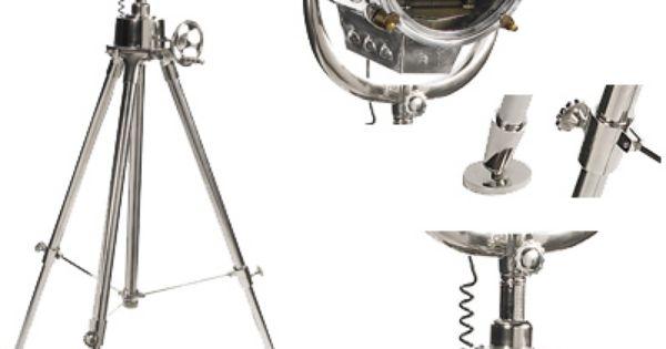 Lampe Phare Et Lampe Trepied Au Meilleur Prix Lampe Projecteur Marine 1930 Sur Tr Pied Sl048