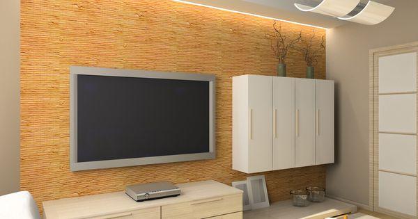 indirekte beleuchtung an der tv wand diy stunning living room designs pinterest tv w nde. Black Bedroom Furniture Sets. Home Design Ideas