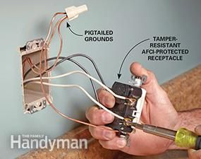 How to Install Electrical Outlets in the Kitchen ... New Wiring A Receptacle on