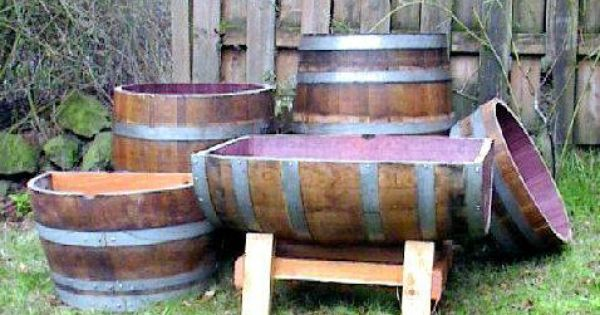 how to cut a wine barrel lengthwise
