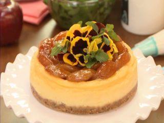 Receta De Pastel De Queso Con Manzanas Caramelizadas