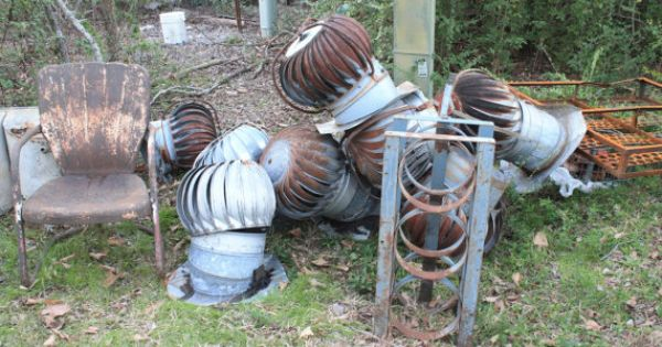 Industrial Turbine Architectural Salvage Decor Roof Wind