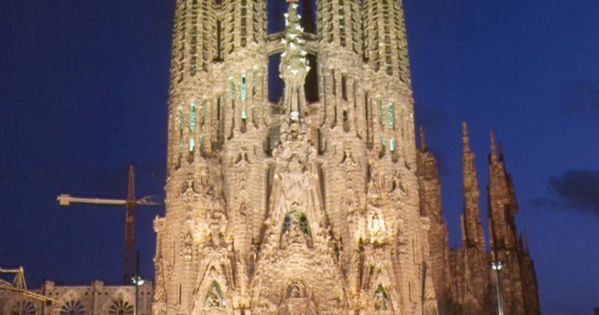 La Sagrada Familia by Antonio Gaudi, Barcelona Spain