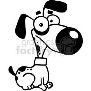 Black And White Cute Cartoon Dog Clipart Commercial Use Clipart 379645 Cartoon Dog Free Cartoons Cute Cartoon
