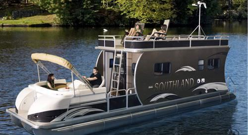 Tri Tube Pontoon Boat With Cabin Hrv Southland Boat In
