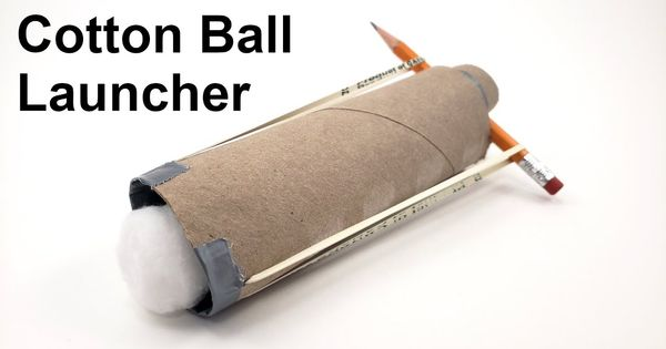 What To Do With Empty Toilet Paper Rolls This Cotton Ball Launcher Is Easy To Make And A Lot Of Stem Fun In 2020 Stem Activities Fun Stem Activities Ball Launcher