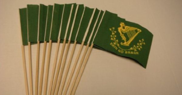 Lot Of 12 4x6 Inch Erin Go Bragh Irish Ireland St Patricks Day Hand Held Stick Flags By American Flag Superstore St Patricks Day Outdoor Gardens Garden Flags