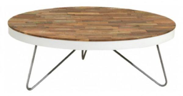 Tafel sloophout rond google zoeken woonkamer pinterest - Tafel met chevet ...