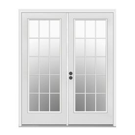 388 Lowes Reliabilt 59 5 In 15 Lite Glass Steel French Inswing