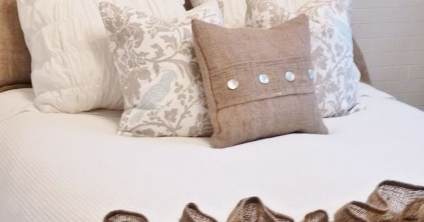 Burlap And White Bedding Classy Amp Chic Spare Room