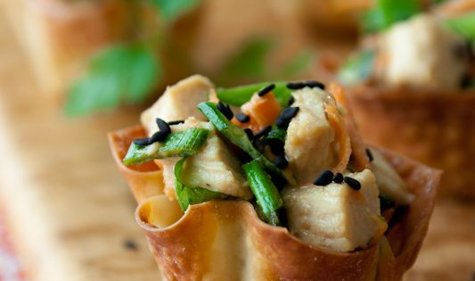 Sesame chicken wonton cups- great party food!