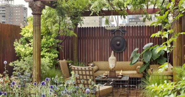 Daktuin high in the sky pinterest patio buiten en tuin - Rooftop terrace beautiful and fresh rooftop decorating ideas ...