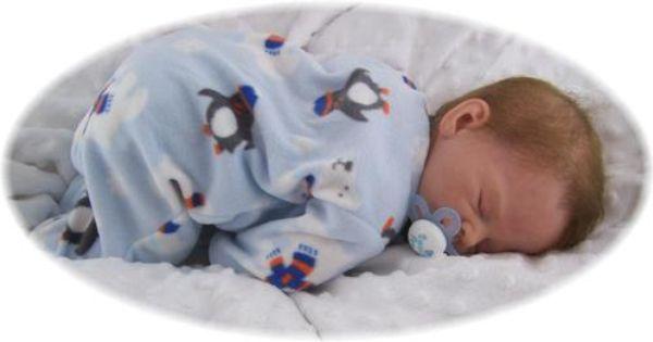 Comfy Clouds Nursery Reborn Baby Boy Bennet Sculpt By